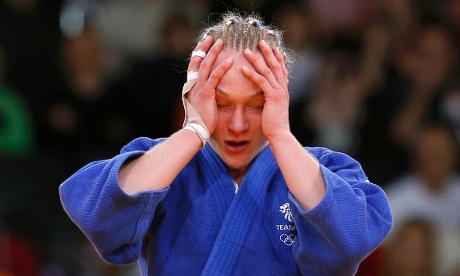 Gemma Howell after she was disqualified in the judo on 31 July 2012. Photograph: Kim Kyung-Hoon/Reuters