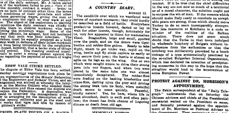 Guardian country diary 14 August 1912