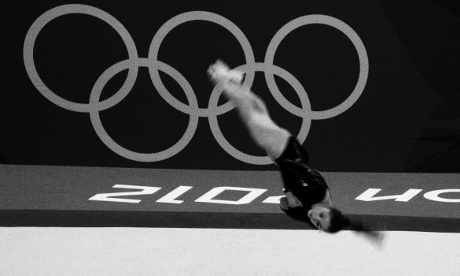 Team GB's Jennifer Pinches on the Floor in the Women's team Artistic Gymnastics
