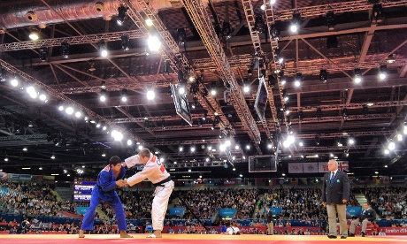 The Judo in full swing at ExCeL.
