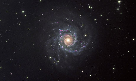 Spiral galaxy in Pisces constellation