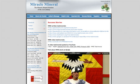 Miracle Mineral website