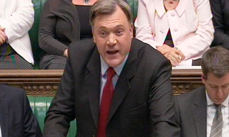 Ed Balls speaks during Commons debate over banking inquiry proposals