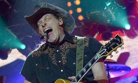 Ted Nugent in concert at Bethlehem, Pennsylvania, 2012