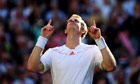 Andy Murray celebrates match point