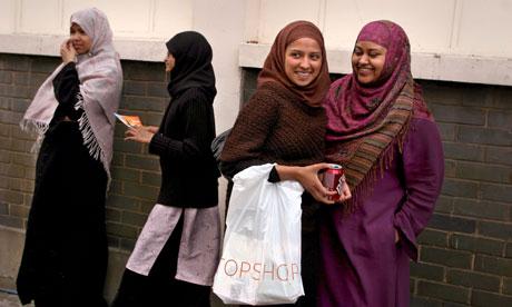 Muslims in Whitechapel, east London