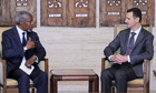 Kofi Annan meets with Bashar al-Assad