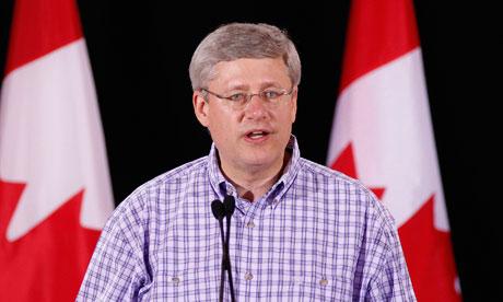 Canada's prime minister Stephen Harper