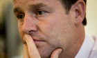 Rebels interrupted Nick Clegg as he described the House of Lords as a 'flawed institution'