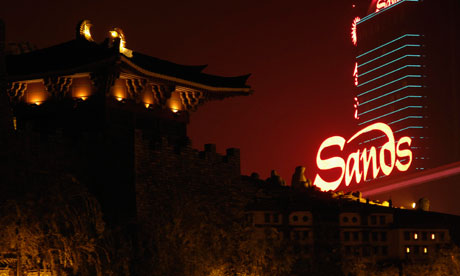 The Sands casino and hotel in Macau