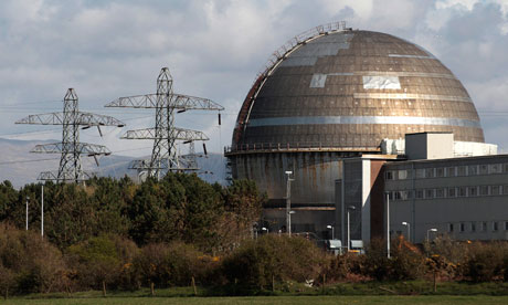 Sellafield nuclear reprocessing site near Seascale in Cumbria, England