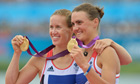 Helen Glover (L) and Heather Stanning, Olympic rowers