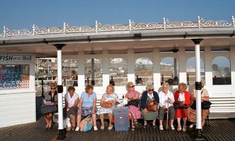 Older people Brighton pier