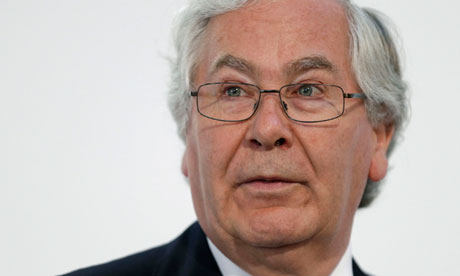 Governor of the Bank of England Mervyn King
