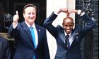 David Cameron and Mo Farah