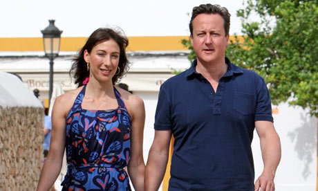 David Cameron and Samantha Cameron on holiday In Ibiza in 2011