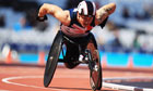 Paralympics GB's David Weir competes in the men's T54 1500m race a test event at Olympic Stadium