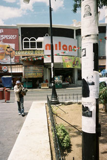 Missing persons poster in Mexico