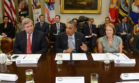 Barack Obama in meeting about US drought