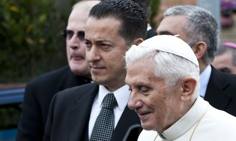 Pope's butler Paolo Gabriele faces prison term for stealing letters | World news | The Guardian - Paolo-Gabriele-with-Pope--010