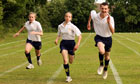 Pupils take part in secondary school sports