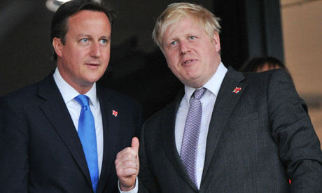 2012 Olympics Opening Ceremony, David Cameron and Boris Johnson