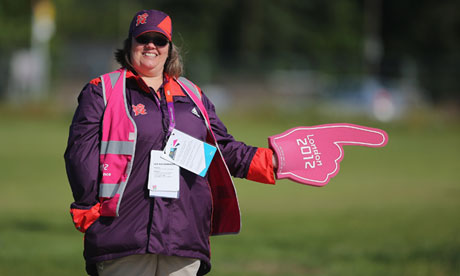 A volunteer at London 2012