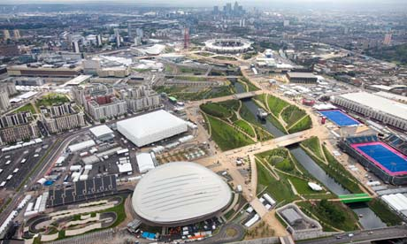 Aerial shot of Olympic Park