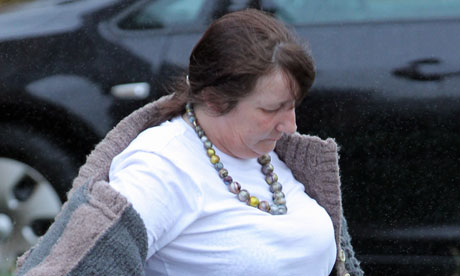 Ian Brady's mental health advocate, Jackie Powell, leaves her house in south Wales