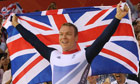 Britain's Chris Hoy celebrates