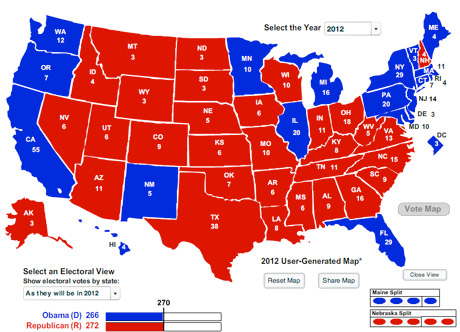 United States Political Map 2012
