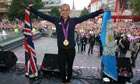 Olympic gold medallist Jessica Ennis is welcomed home by thousands of fans in Sheffield