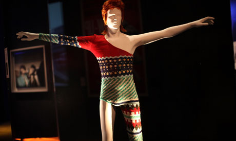 A costume designed by Japanese designer Kansai Yamamoto for David Bowie