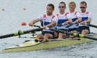 Great Britain's Peter Chambers, Rob Williams, Richard Chambers and Chris Bartley compete in the men's lightw
