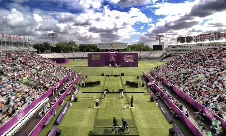A beautiful morning to cover the Women's archery at Lord's.