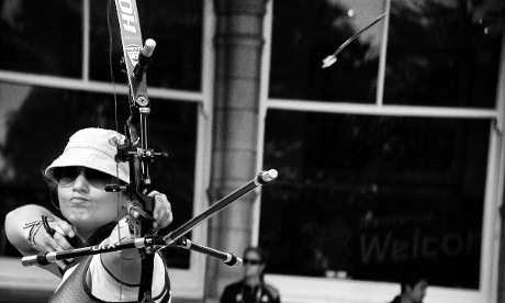 Japan's Miki Kanie shoots in the Women's individual archery at Lord's