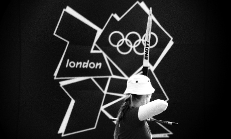 Denmark's Carin Christiansen competes in the Women's individual archery at Lord's