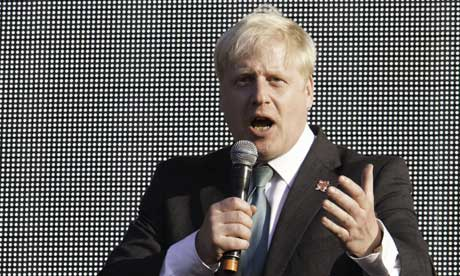 Boris Johnson at Olympic torch concert