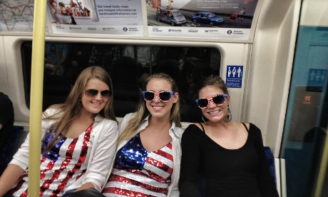 Supporters of Team USA travelling to the games