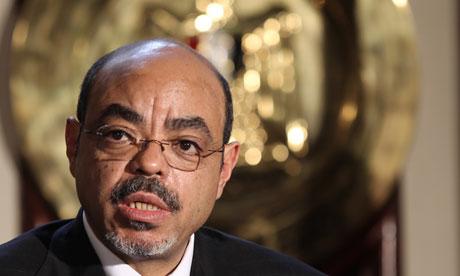 Ethiopian prime minister Meles Zeinawi
