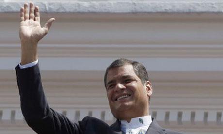 Rafael Correa, the Ecuadorean president