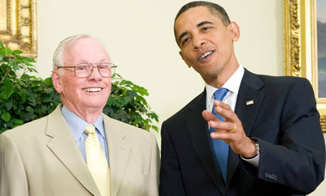Neil Armstrong and Barack Obama