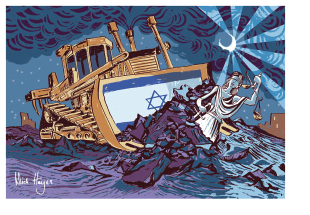 Nick Hayes cartoon on the Rachel Corrie court verdict, guardian.co.uk, Tuesday 28 August 2012 17.25 EDT