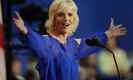 Northern Exposure actress Janine Turner addresses delegates during the Republican National Convention in Tampa