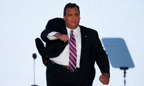 New Jersey Governor Chris Christie in full flow at the RNC in Tampa.