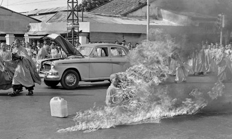 Malcolm Browne's 1963 image of Thich Quang Duc. Photograph: Malcolm Browne/AP