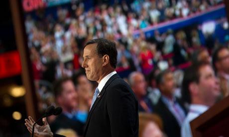 Rick Santorum at Republican national convention