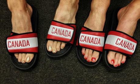 Team Canada feet