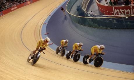 The Australian team pursuit squad lost to team GB
