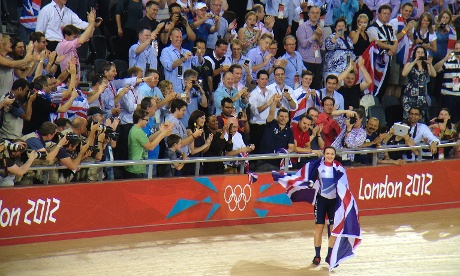 The Keirin gold medal was won by Great Britian's Victoria Pendleton.